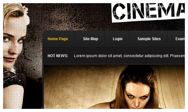 cinemascope joomla template