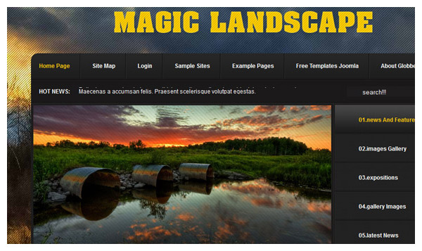 magic landscape joomla template